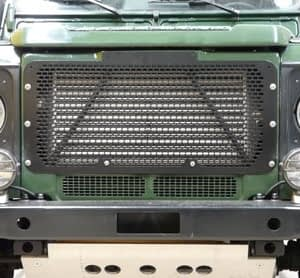 Land Rover Defender, Front Grill, Stainless steel, black, DA2356B
